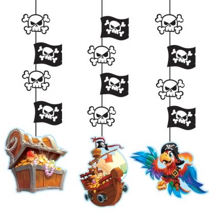 """Kabančios dekoracijos """"Piratai jūroje"""" (3 vnt.)"""