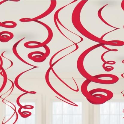 Kabančios dekoracijos, raudonos (12 vnt./ 55 cm)