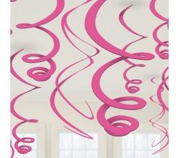 Kabančios dekoracijos, ryškiai rožinės (12 vnt./ 55 cm)