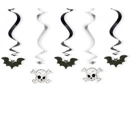 """Kabančios dekoracijos """"Šikšnosparniai ir kaukolės"""" (5 vnt.)"""