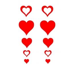 """Kabančios dekoracijos """"Širdelių girlianda"""" (2 vnt./95 cm)"""
