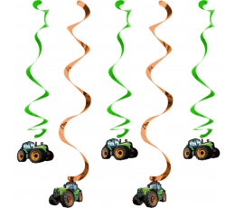 "Kabančios dekoracijos ""Traktoriai"" (5 vnt)"