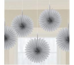 Kabančios dekoracijos-vėduoklės, pilkos (5 vnt.)
