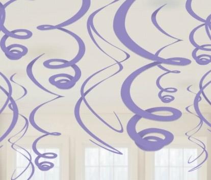 Kabančios dekoracijos, violetinės (12 vnt./ 55 cm)
