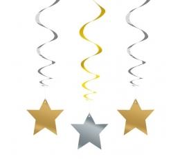 """Kabančios dekoracijos """"Žvaigždės"""" (3 vnt./66 cm)"""