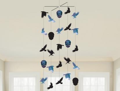 """Kabanti dekoracija """"Helovino paukščiai"""""""