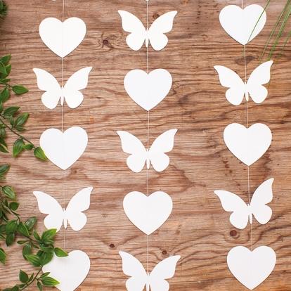 """Kabanti dekoracija """"Širdelės ir drugeliai"""" (2 m)"""