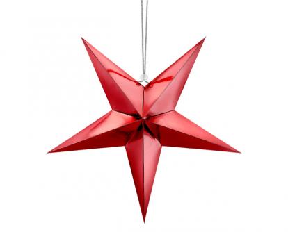 Kabanti dekoracija-žvaigždė, raudona (45 cm)