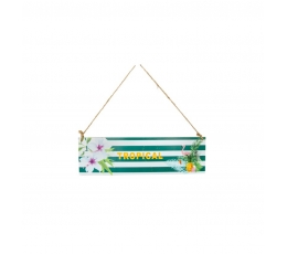 """Kabantis užrašas """"Tropical"""", medinis (34x10 cm)"""