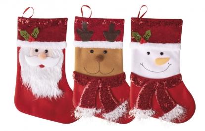 """Kalėdinė kojinė """"Linksmos Kalėdos"""" (24x37 cm)"""