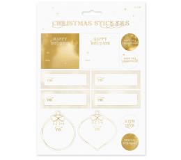 Kalėdiniai lipdukai, auksiniai (12 vnt.)