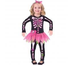 """Karn. kostiumas """"Rožinis skeletas"""" (104 - 116 cm.)"""