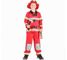 """Karnavalinis kostiumas """"Gaisrininkas"""" (110 - 120 cm.)"""