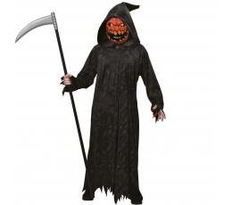 """Karnavalinis  kostiumas """"Giltinė moliūgo veidu"""" (130 - 140 cm.)"""