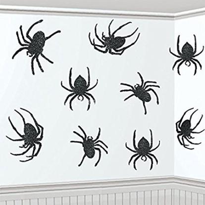 "Karpiniai-dekoracijos ""Blizgantys vorai"" (9 vnt.)"