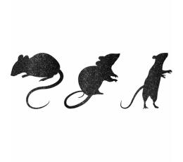 """Karpiniai-dekoracijos """"Pelės"""", blizgūs (9 vnt.)"""