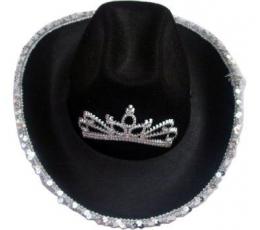 Kaubojės skrybėlė juoda