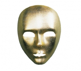 Kaukė-domino / auksinė
