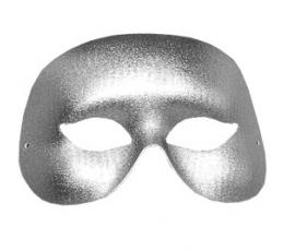 Kaukė - domino, sidabrinė