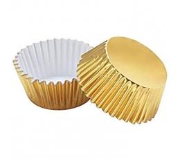 Keksiukų formelės, folinės auksinės (45 vnt.)