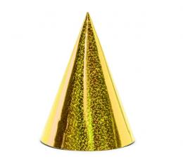 Kepuraitės, auksinės žvilgančios (6 vnt.)