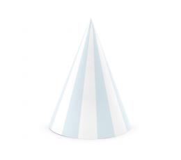 Kepuraitės, melsvai-baltai dryžuotos (6 vnt.)