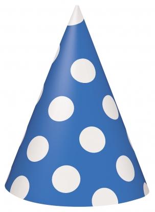Kepuraitės, taškuotai mėlynos (8 vnt.)