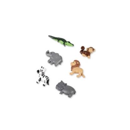 """Klijuojamos 3D dekoracijos """"Džiunglių gyvūnai"""" (6 vnt./ 3,5 cm)"""