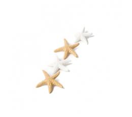 """Klijuojamos 3D dekoracijos """"Jūros žvaigždės"""" (6 vnt./ 4,5 cm)"""