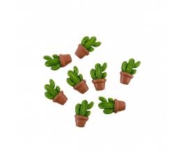 """Klijuojamos 3D dekoracijos """"Kaktusai"""" (8 vnt./ 3 cm)"""