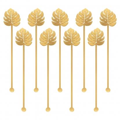 """Kokteilinės lazdelės """"Aukso palmės"""" (12 vnt./19 cm)"""