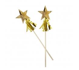 """Kokteilinės lazdelės """"Aukso žvaigždės"""" (15 vnt.)"""