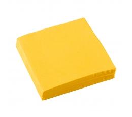Kokteilinės servetėlės, geltonos (20 vnt.)