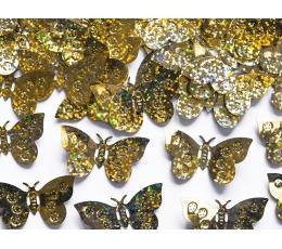 Konfeti - auksinės spalvos drugeliai (15 g.)