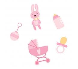 """Konfeti """"Baby"""", rožiniai (14 g)"""