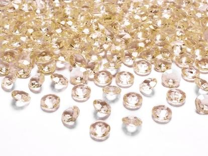 Konfeti deimantai, persikiniai (100 vnt./12 mm)