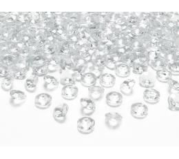 Konfeti deimantai, skaidrūs (100 vnt./12 mm)