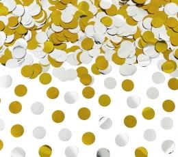 Konfeti patranka, auksinė-sidabrinė (40 cm) 0