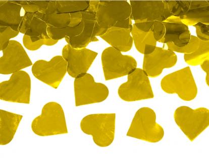 "Konfeti patranka ""Aukso širdys"" (60 cm)"