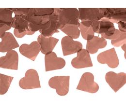 """Konfeti patranka """"Rožinio aukso širdys"""" (60 cm)"""
