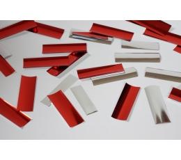 Konfeti,  raudoni-sidabriniai (10 g)