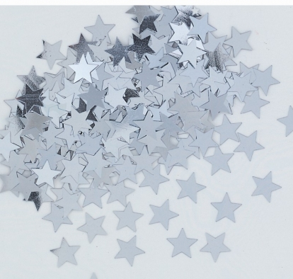 """Konfeti """"Sidabro žvaigždės"""""""
