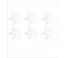 Konfeti snaigės, perlamutrinės (20 vnt./4 cm.)