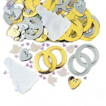 """Konfeti """"Vestuvių žiedai"""""""