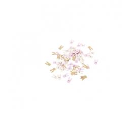 "Konfeti ""Zuikučiai"", rausvi-auksiniai (120 vnt./1,3-2,5 cm)"