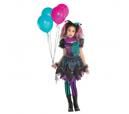"""Kostiumas """"Harley Quinn"""", rožinis-turkio (12-14 m.)"""