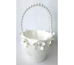 """Krepšelis žiedlapiams """"Baltos gėlės"""""""