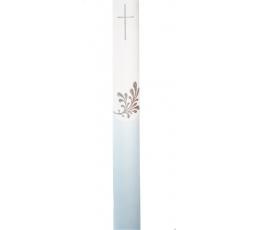 Krikšto žvakė, melsva (38 cm)