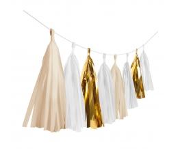 Kutosų girlianda, baltai auksinė (3 m)