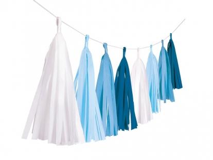 Kutosų girlianda, baltai mėlyna (3 m)